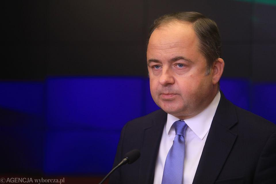 Konrad Szymański, minister ds. Unii Europejskiej, 12 września 2018 r.