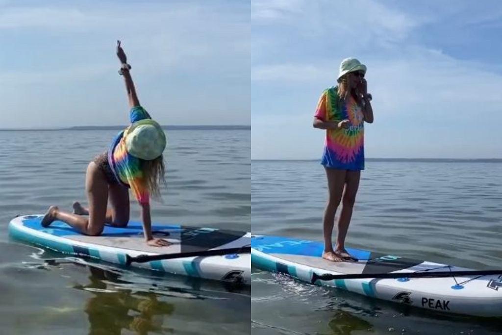 Jessica Mercedes ćwiczy jogę w nietypowym miejscu