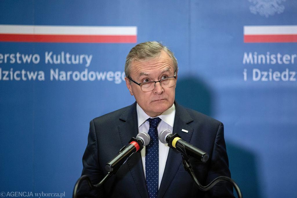 Piotr Gliński, Minister Kultury i Dziedzictwa Narodowego
