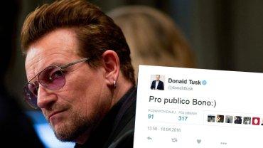 Tusk zabrał głos ws. słów Bono?