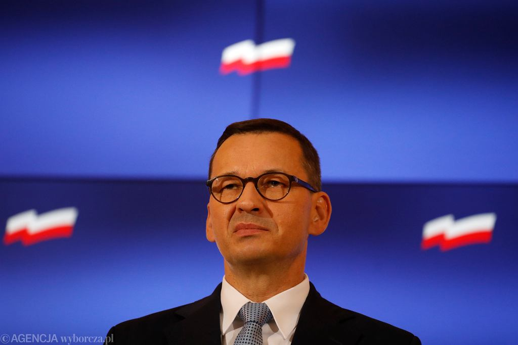 Premier rządu PiS Mateusz Morawiecki - konferencja w KPRM. Warszawa, 20 sierpnia 2020