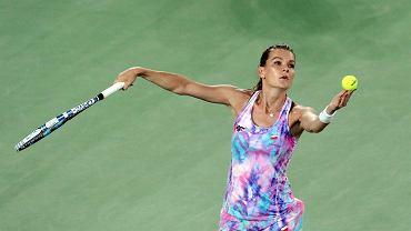 Agnieszka Radwańska podczas treningu przed turniejem na igrzyskach olimpijskich w Rio de Janerio, 2016 r.