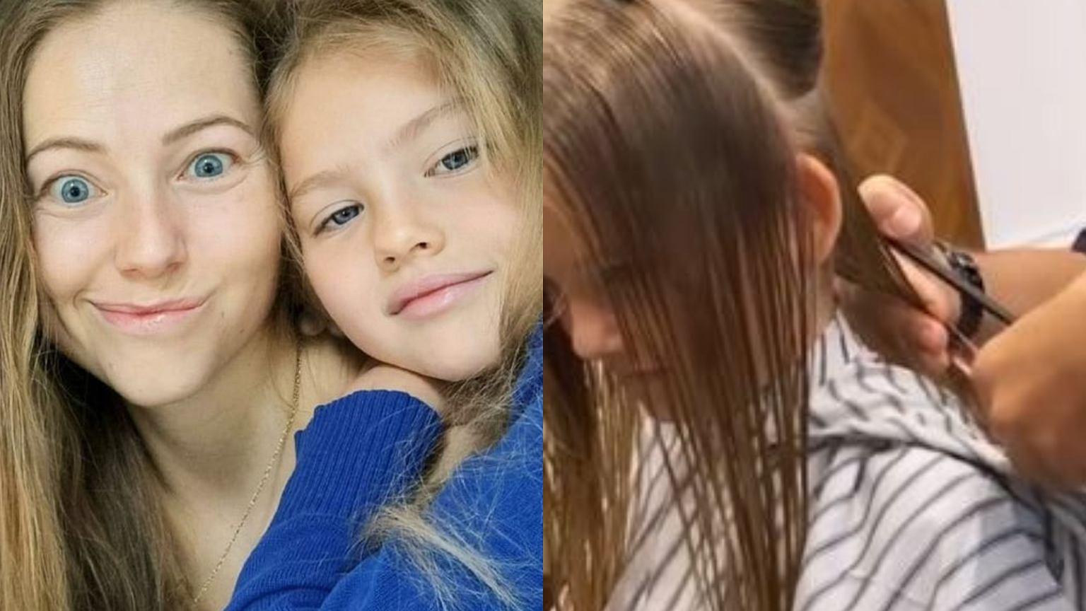 Agata Rubik zabrała córkę do fryzjera. Było ostre cięcie. Efekt? Ogromna zmiana. Poleciało dużo włosów