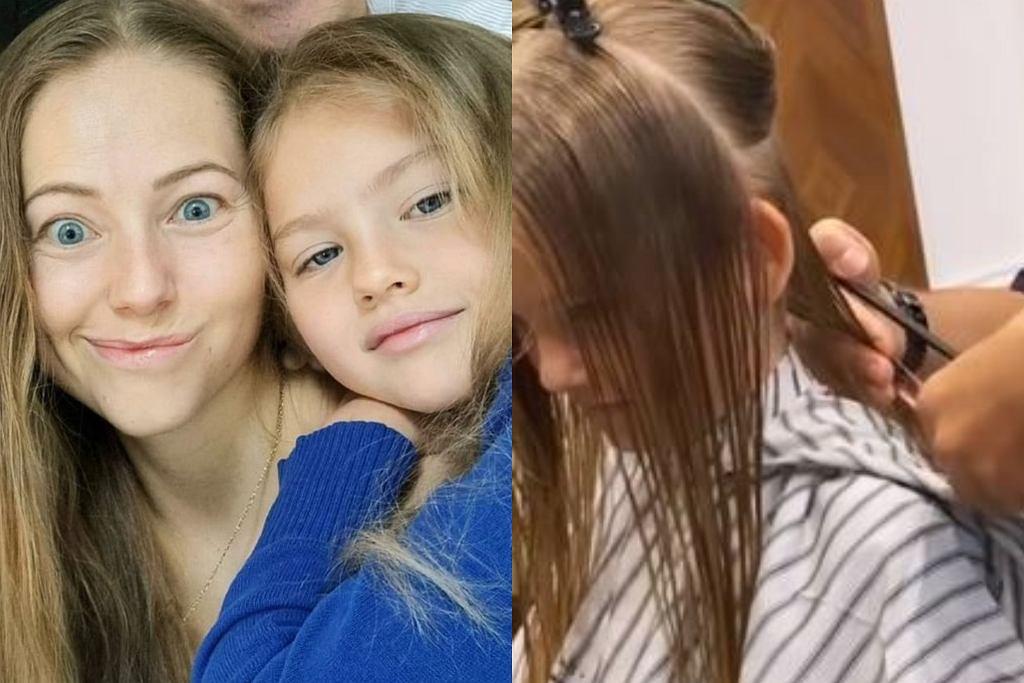 Córka Agaty Rubik u fryzjera