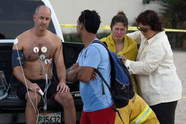 Jeden z rannych po uderzeniu pioruna na Venice Beach