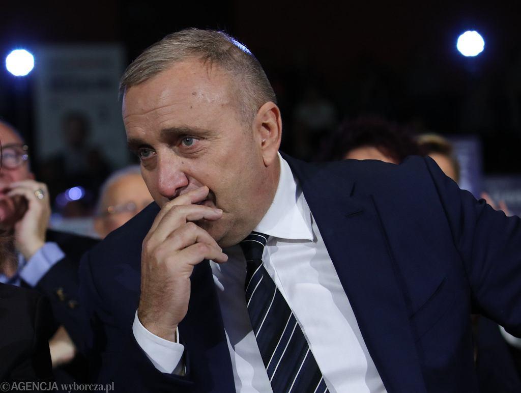 Grzegorz Schetyna podczas konwencji Koalicji Obywatelskiej .