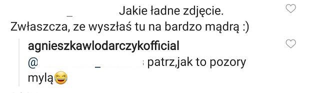 Komentarz Agnieszki Włodarczyk