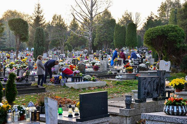 Zdjęcie numer 2 w galerii - 1 listopada w Bielsku-Białej. Kwiaty, wieńce i znicze na grobach [ZDJĘCIA]