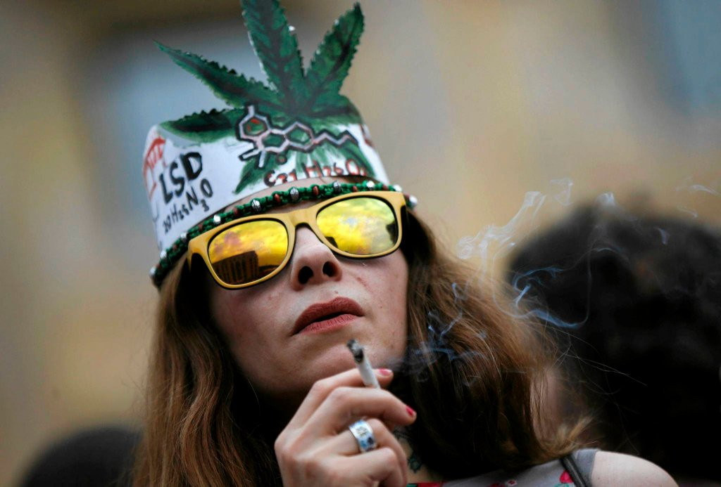 Marsz zwolenników legalizacji marihuany w Tbilisi