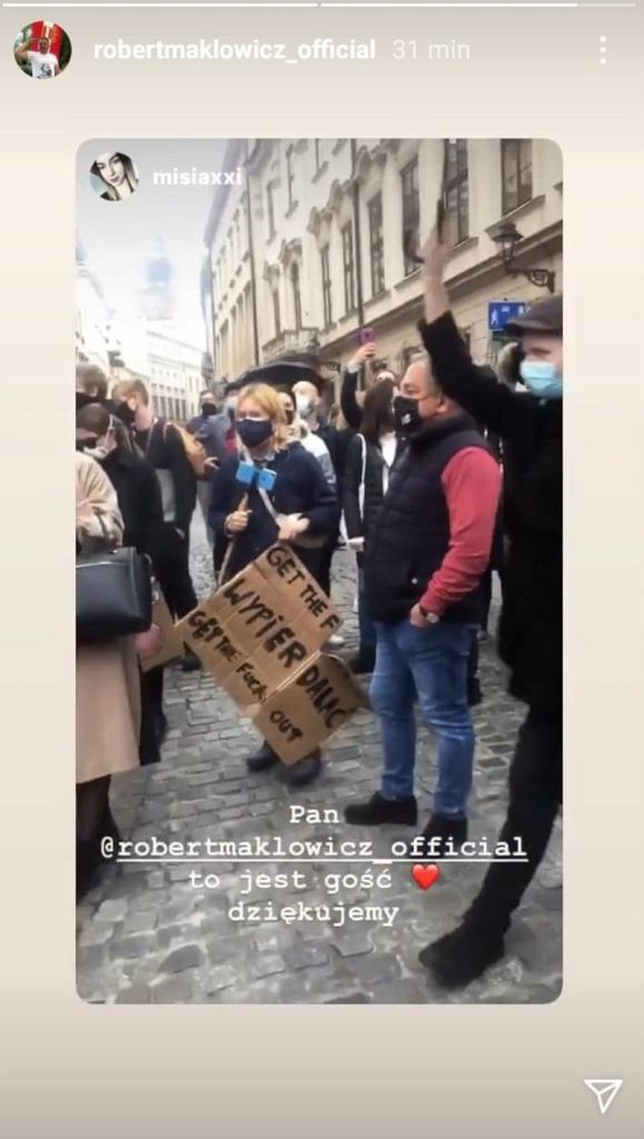 Robert Makłowicz na strajku