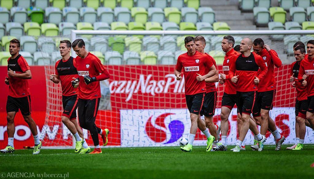 Trening kadry Adama Nawałki przed towarzyskim meczem z Holandią w Gdańsku.