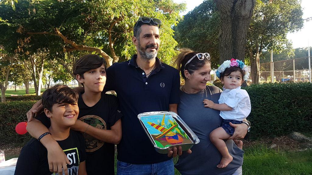 Justyna i jej rodzina. Od lewej: Ilay, Itay, Moti, Justyna, Omri