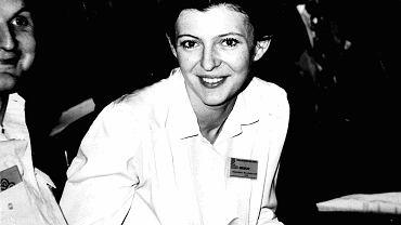Sierpień' 80 w Szczecinie. Na zdjęciu Małgorzata Niesobska-Urbaniak