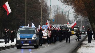 Marsz nacjonalistów w 74. rocznicę wyzwolenia Auschwitz