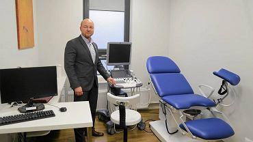Gabinet ginekologiczny hospicjum perinatalnego Fundacji 'Pomóż im', wyposażony w ramach akcji Gazety Wyborczej 'Choinka darczyńców'