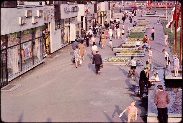 Zdjęcie numer 0 w galerii - Nostalgiczne Katowice sprzed wielu lat na nieznanych, kolorowych fotografiach amerykańskiego profesora