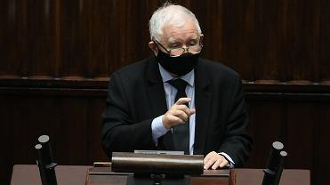 9.12.2020, Jarosław Kaczyński w Sejmie