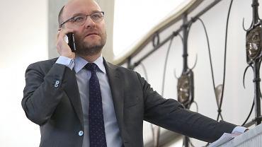 Kamil Zaradkiewicz w Sejmie. Warszawa, 25 stycznia 2018
