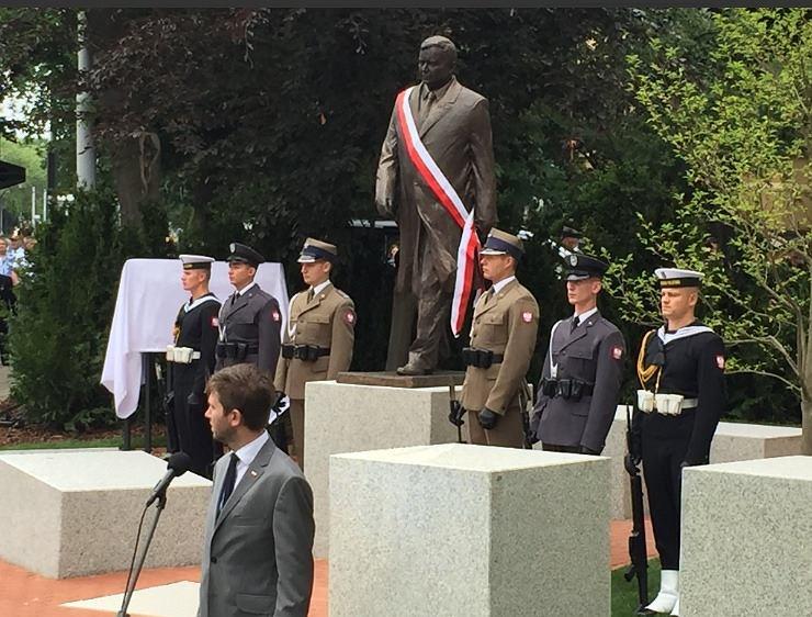 Odsłonięcie pomnika Lecha Kaczyńskiego w Szczecinie.