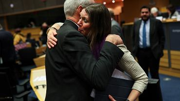 Brexit. Szkocka polityk, europosłanka Aileen McLeod i brytyjski europoseł Richard Corbett