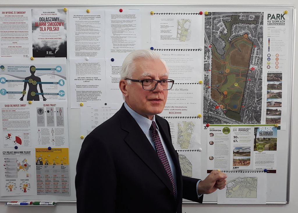 Senator Andrzej Stanisławek apeluje do rady miasta by odkupić górki czechowskie do dewelopera