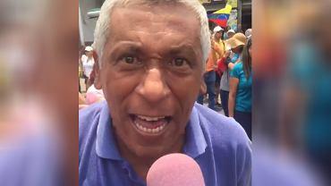 Jesus Alberto Jaramillo, uczestnik protestu przeciwko władzy Nicolasa Maduro