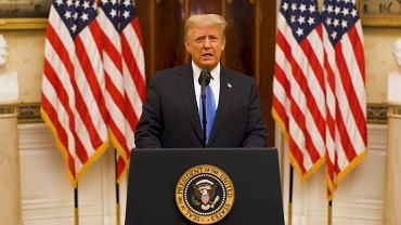 Donald Trump podczas pożegnalnego wystąpienia
