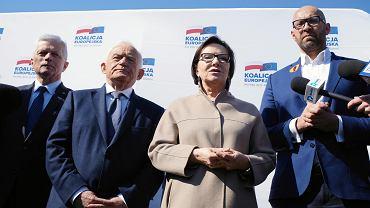 Wybory do europarlamentu 2019.  Kandydaci Koalicji Europejskiej do Parlamentu Europejskiego z Wielkopolski podczas prezentacji w Starym Korycie Warty w Poznaniu