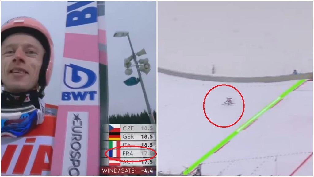 Dawid Kubacki otrzymał zaniżoną notę od za lądowanie podczas drugiego skoku w Klingenthal