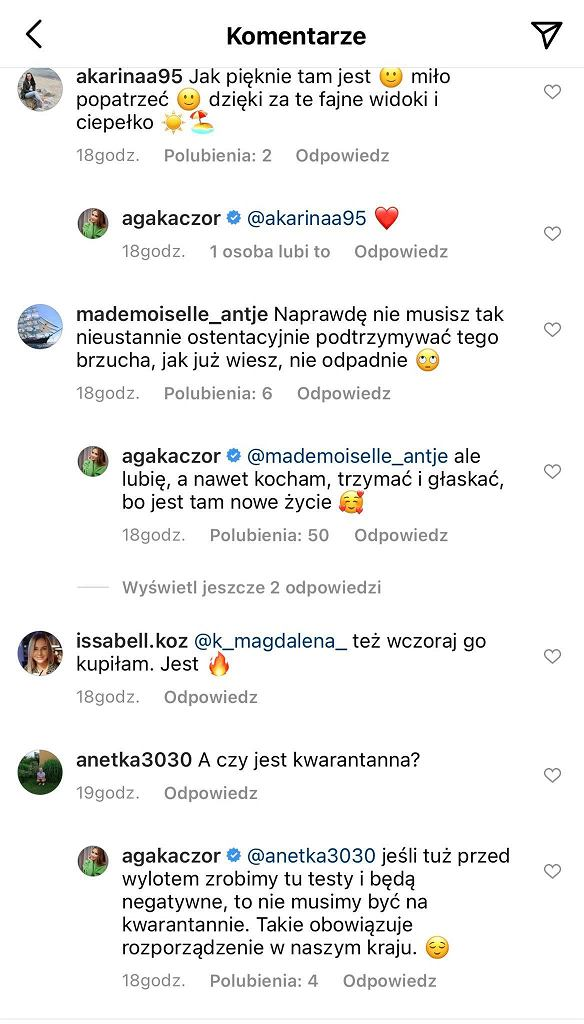 Agnieszka Kaczorowska pokazała figurę w ciąży. 'Naprawdę nie musisz tak nieustannie ostentacyjnie podtrzymywać tego brzucha'