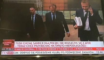 TVP Info o wizycie Tuska w Polsce
