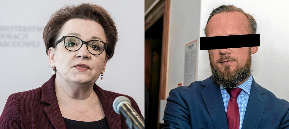 Do momentu ujawnienia afery w PCK Jerzy G. należał do najbliższych współpracowników Anny Zalewskiej. Prowadził jej kampanię wyborczą, był członkiem kierowanego przez nią zarządu wałbrzyskiego PiS. Dziś szefowa MEN się od niego odcina