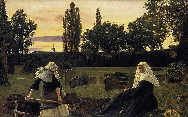 freeparking :-| Flickr CCo, John Everett Millais: The Vale of Rest Oil painting. 1858