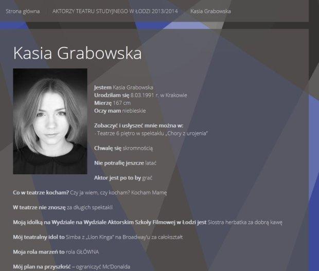 Strona Katarzyny Grabowskiej