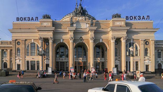 Budynek dworca w Odessie