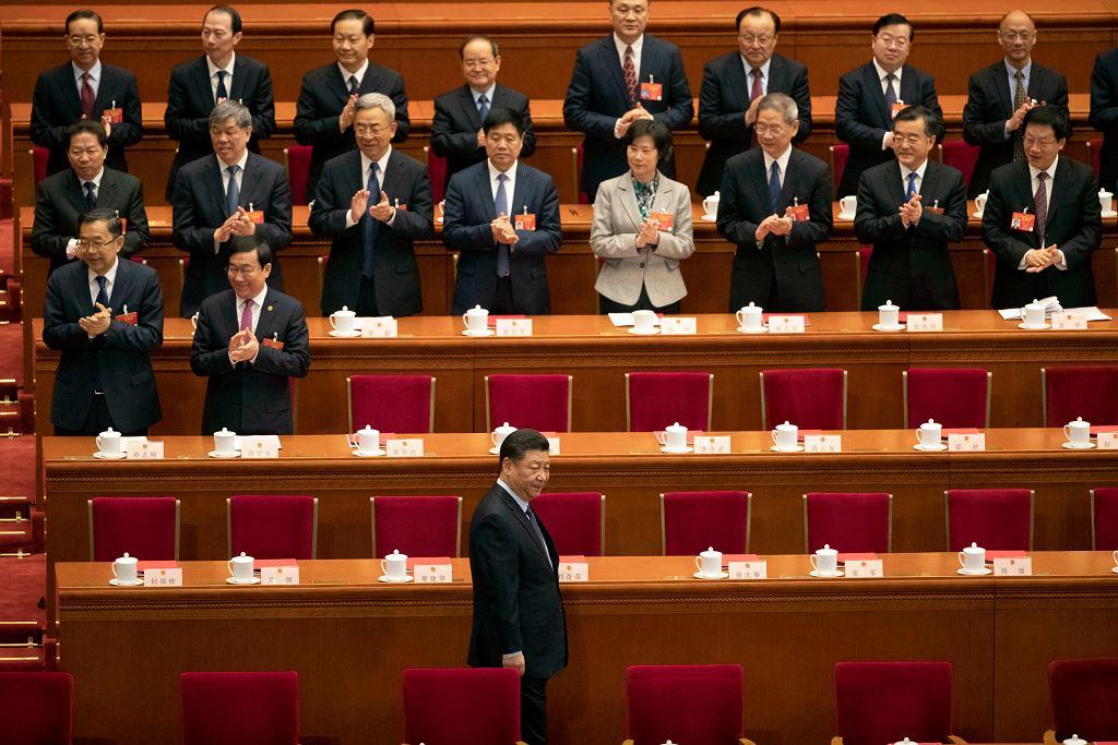 Prezydent Chin Xi Jinping na posiedzeniu Ogólnochinskiego Zgromadzenia Przedstawicieli Ludowych, 15 marca 2019 r.