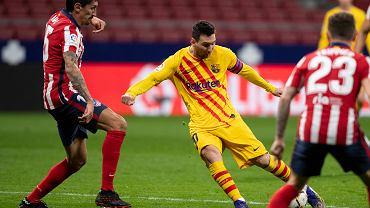 Leo Messi w meczu z Atletico
