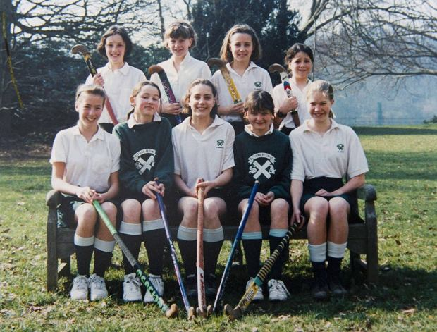 Britain's Catherine Duchess of Cambridge (front row C) is seen in this image taken of an undated hockey team photograph, while she was attending St. Andrew's Preparatory School, which she was enrolled in from 1986 to 1995, near Pangbourne in Berkshire, southern England November 30, 2012.   REUTERS/Arthur Edwards/Pool    (BRITAIN - Tags: ENTERTAINMENT EDUCATION ROYALS) FOR EDITORIAL USE ONLY. NOT FOR SALE FOR MARKETING OR ADVERTISING CAMPAIGNS