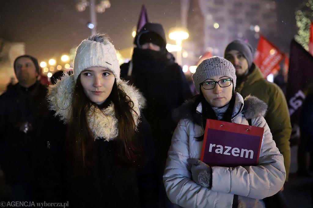 Czarny Protest w Częstochowie, pl. Biegańskiego, 17 stycznia 2017 r.