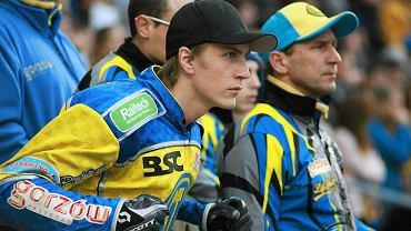 Linus Sundstrom i trener Piotr Paluch