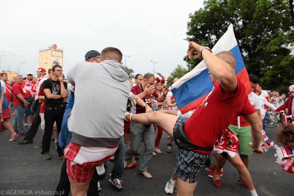 Zadymy przed meczem Polska-Rosja