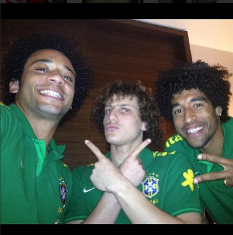 Reprezentacja Brazylii podczas zgrupowania PK