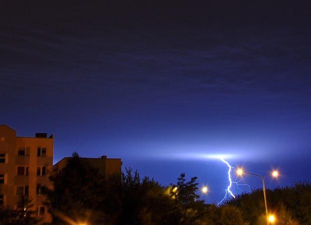 Nocna burza nad Wrocławiem