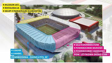 Plan funkcjonalno-użytkowy nowego stadionu ŁKS