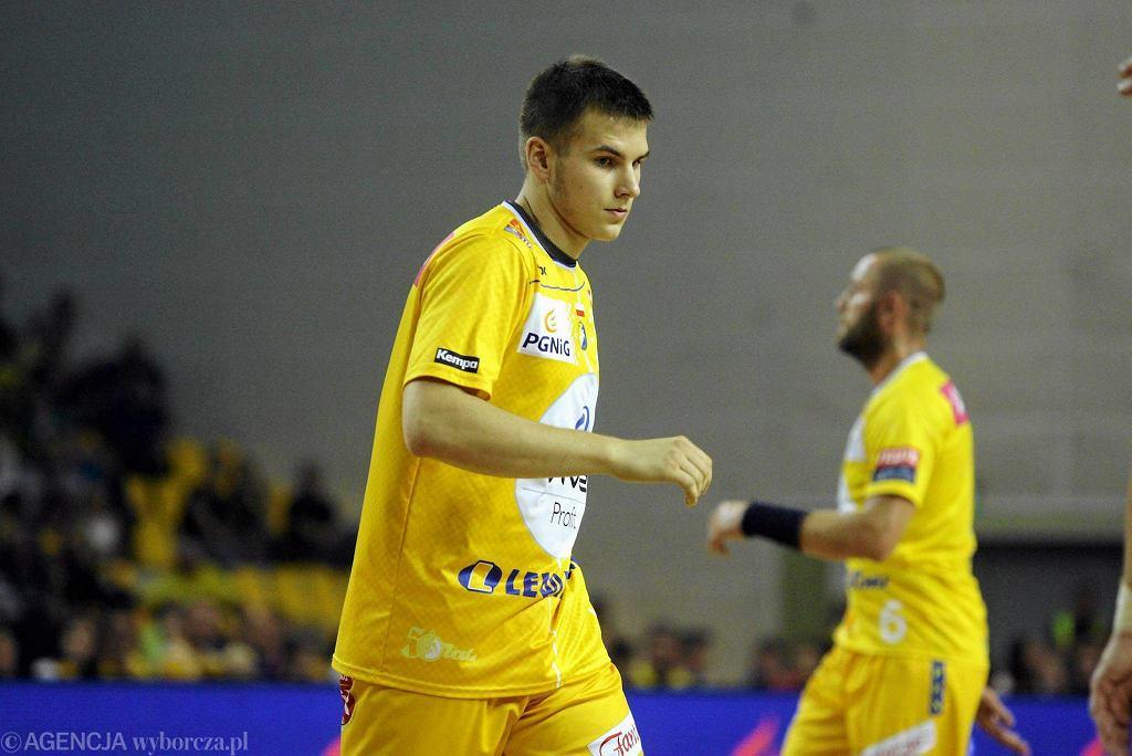 Bartłomiej Bis podczas meczu Vive Tauron Kielce - Chrobry Głogów