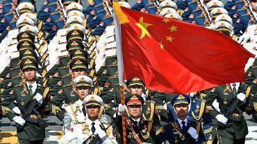 Pochód żołnierzy Chińskiej Armii Ludowo-Wyzwoleńczej