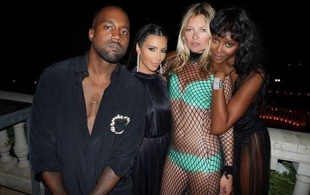 Kanye West, Kim Kardashian, Kate Moss i Naomi Campbell