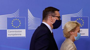 Ursula von der Leyen i Mateusz Morawiecki. Bruksela, 13 lipca 2021