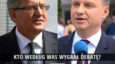 Kto lepiej wypadł w debacie prezydenckiej?