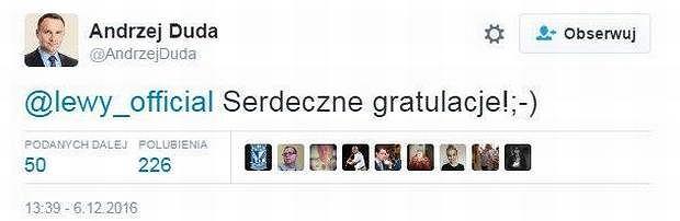 Screen z Twitter.com/andrzejduda